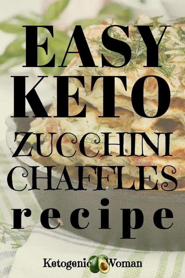 Easy keto zucchini chaffles recipe