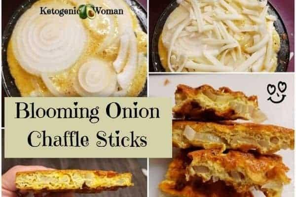 keto Onion Ring Chaffle Sticks