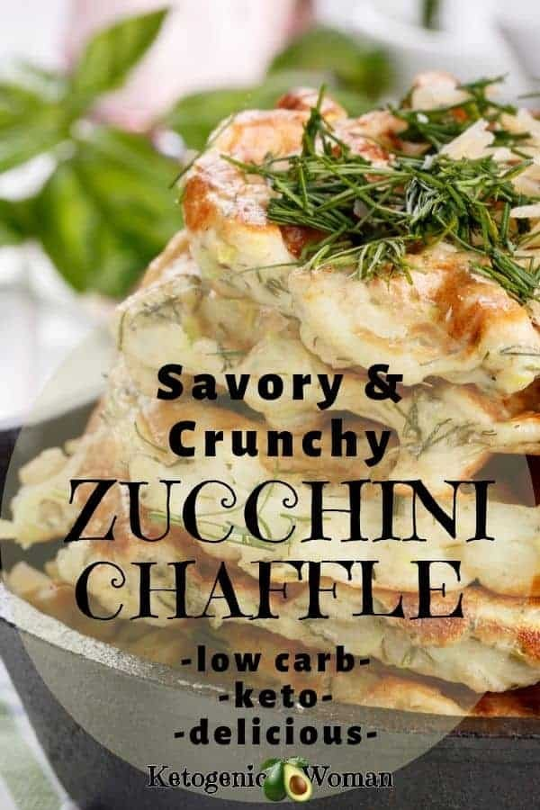 Low Carb zucchini chaffle waffle