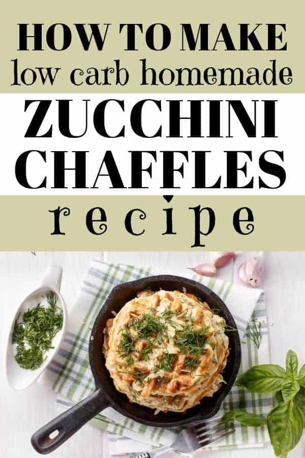 how to make low carb homemade zucchini chaffles recipe