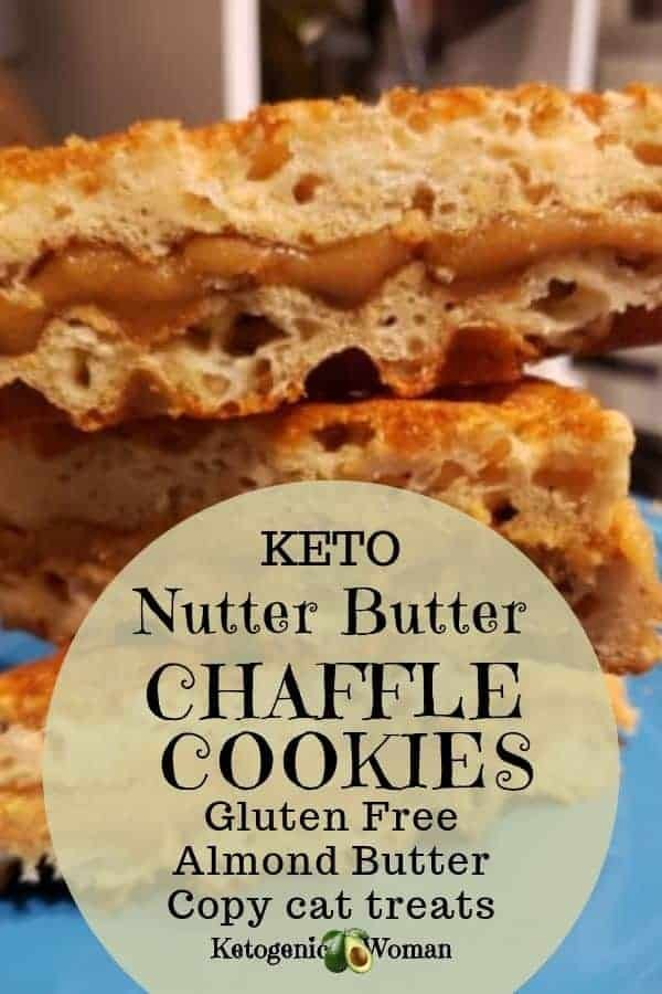 keto nutter butter chaffle cookies