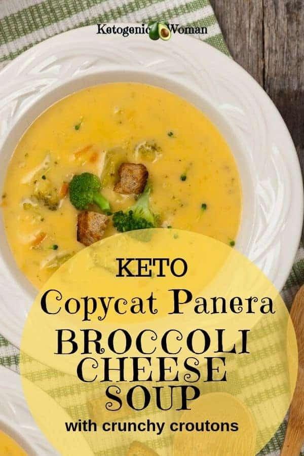 Low Carb Keto Panera Broccoli Cheese Soup