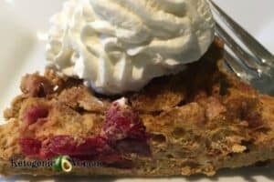 Pumpkin Cranberry Chaffle Pudding with Whip Cream