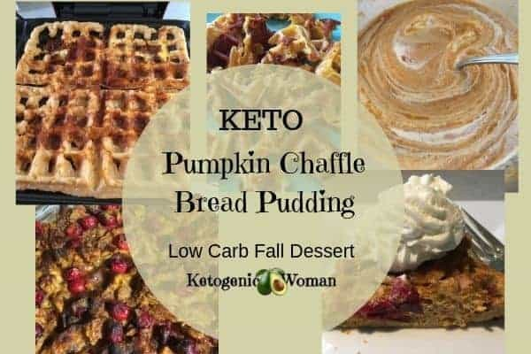 Keto Chaffle Bread Pudding