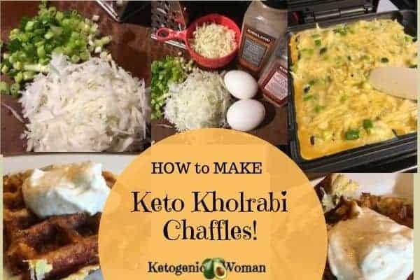 How to make keto kholrabi chaffle