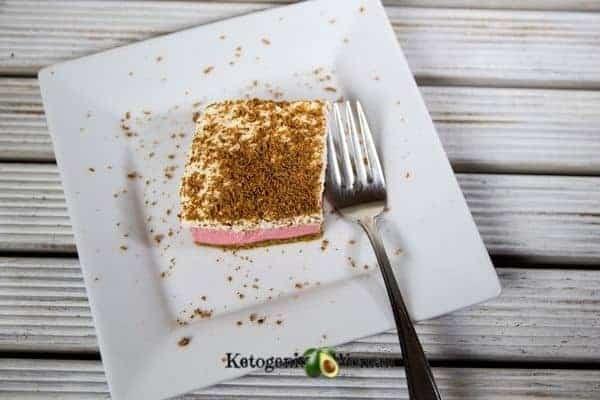 Keto Strawberry Jello Cheesecake Bites