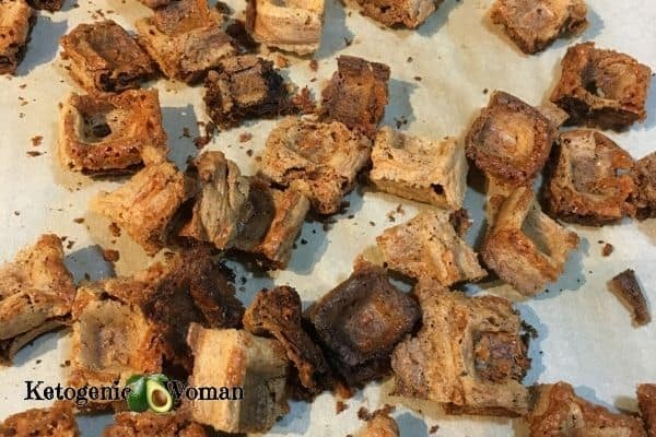 Baked Chaffle Croutons