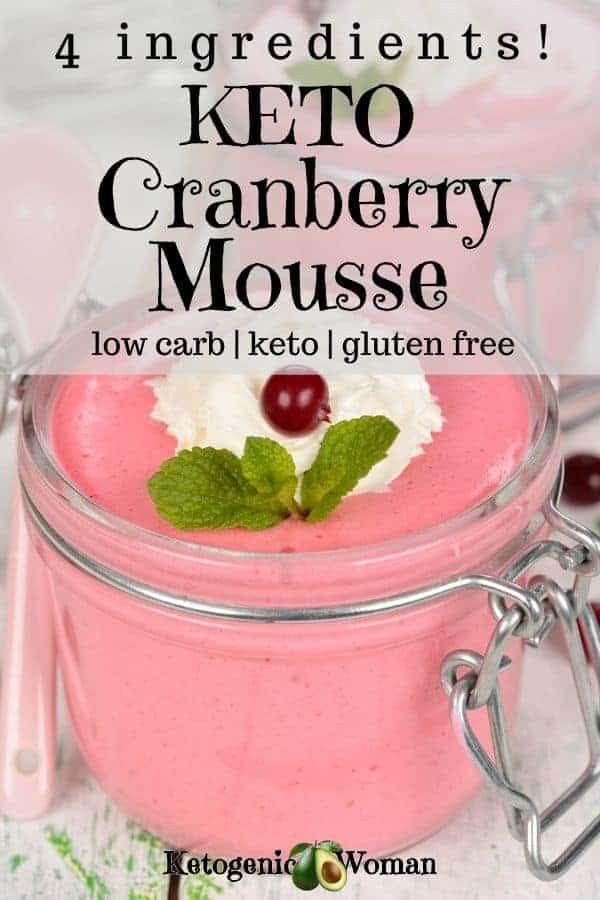 Keto Cranberry cheesecake mousse dessert recipe