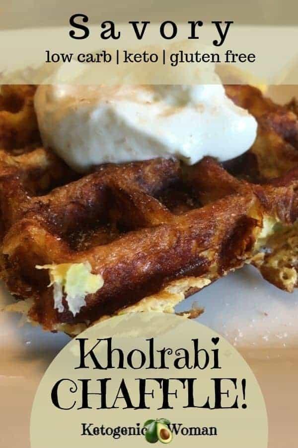 Savory and Crunchy Keto Kholrabi Chaffle