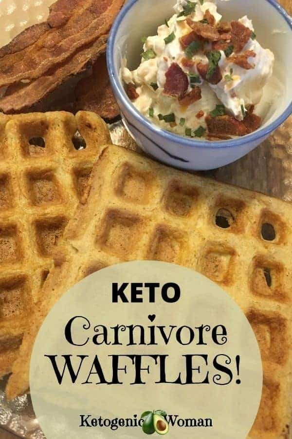 Carnivore Waffles with Dip