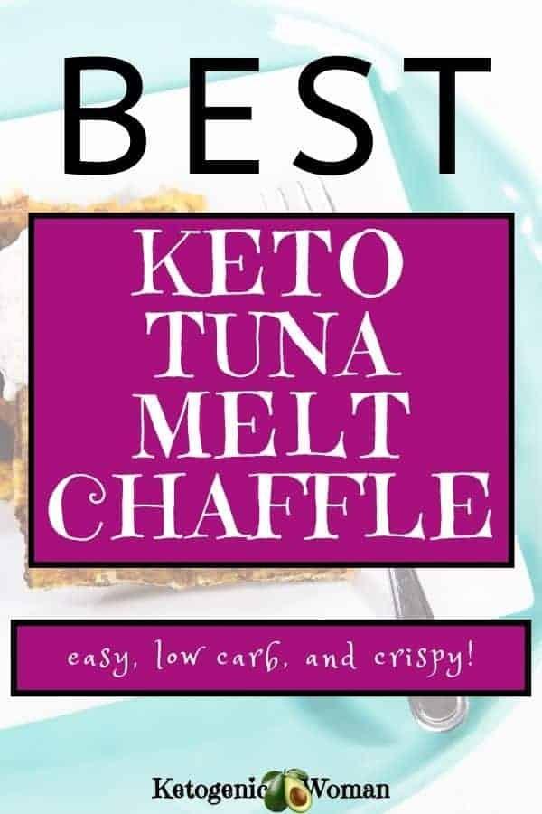 Keto Tuna Melt Chaffles