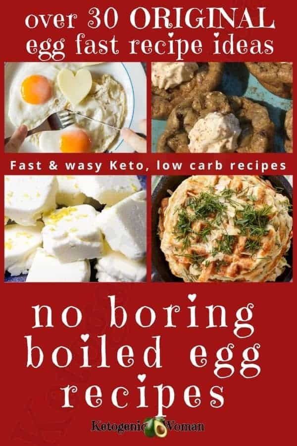 Ultimate Egg Fast recipes, meals and ideas