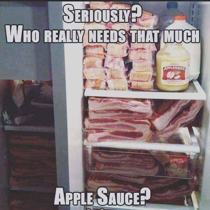 keto diet bacon meme