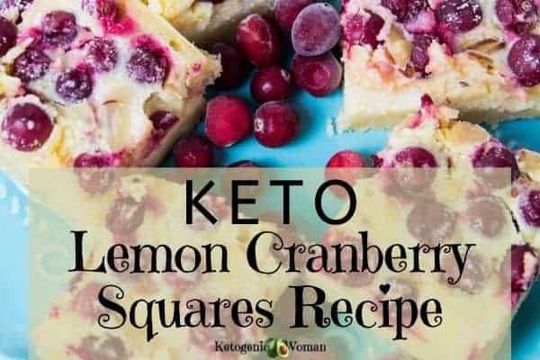Keto Lemon Cranberry Squares