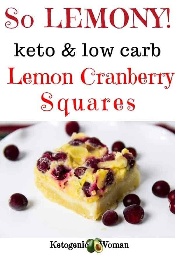 Keto Lemon Cranberry Bar on a plate