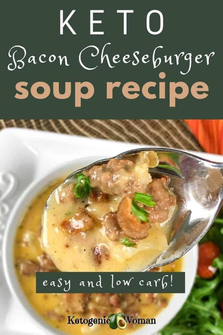 Easy Keto, Low Carb Bacon Cheeseburger Soup Recipe (1)