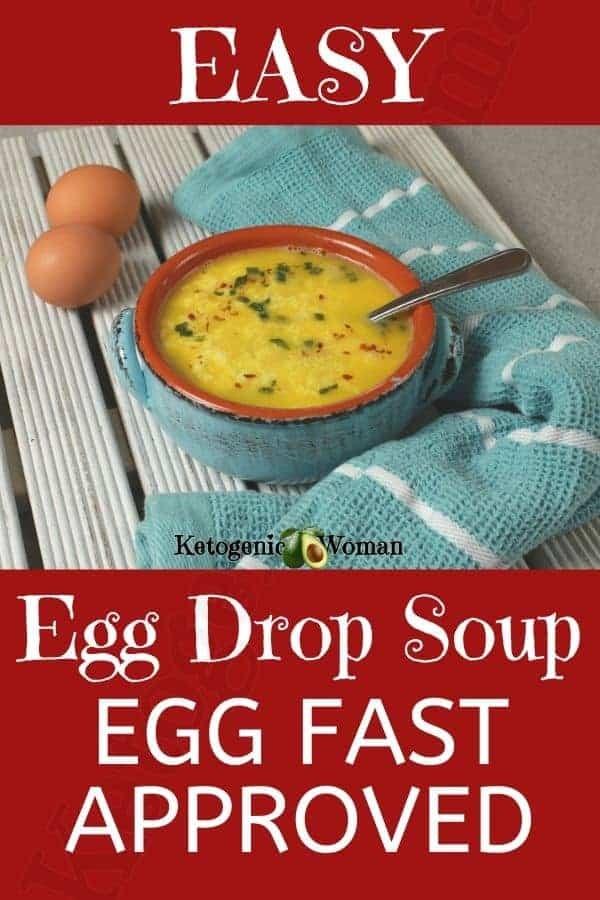 Egg Fast Soup - Egg Drop Soup