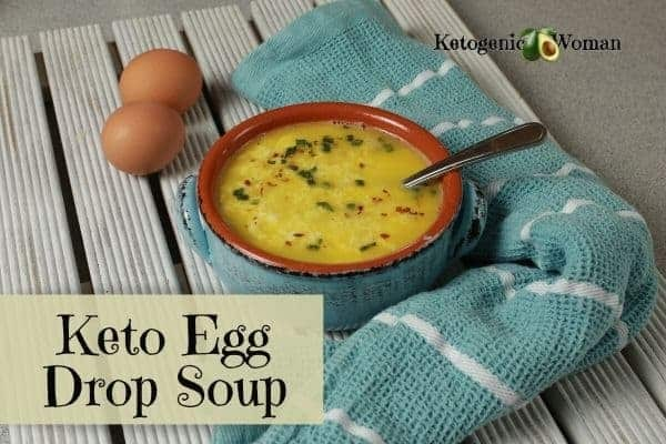 Egg Drop Soup in bowl with props