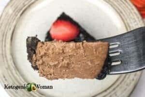 Chocolate Cheesecake on fork