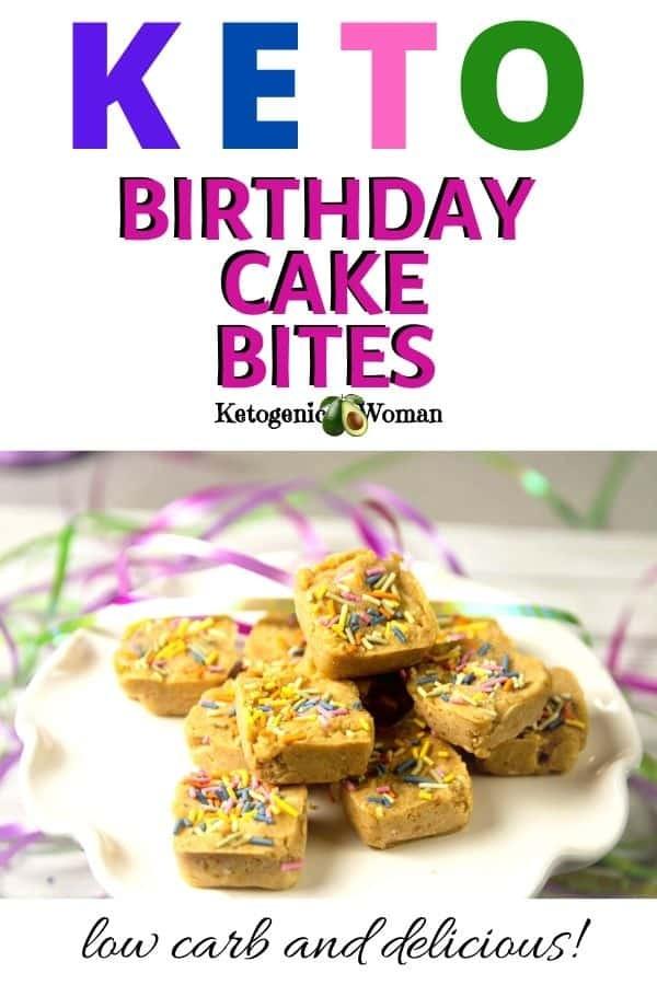 Keto birthday cake bites recipes