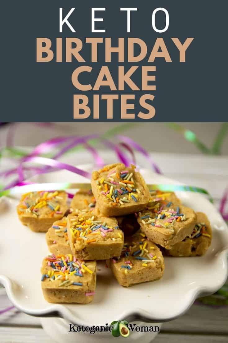Low carb birthday cake bites recipe