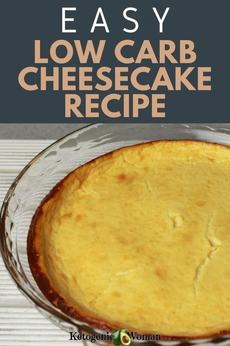 whole baked cheesecake in glass pan