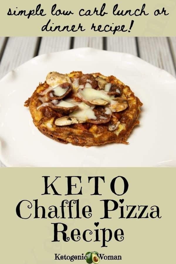 Easy Keto Chaffle Pizza Recipe