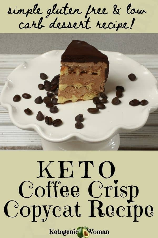 Simple gluten free & low carb dessert recipe - Keto coffee crips copycat recipe
