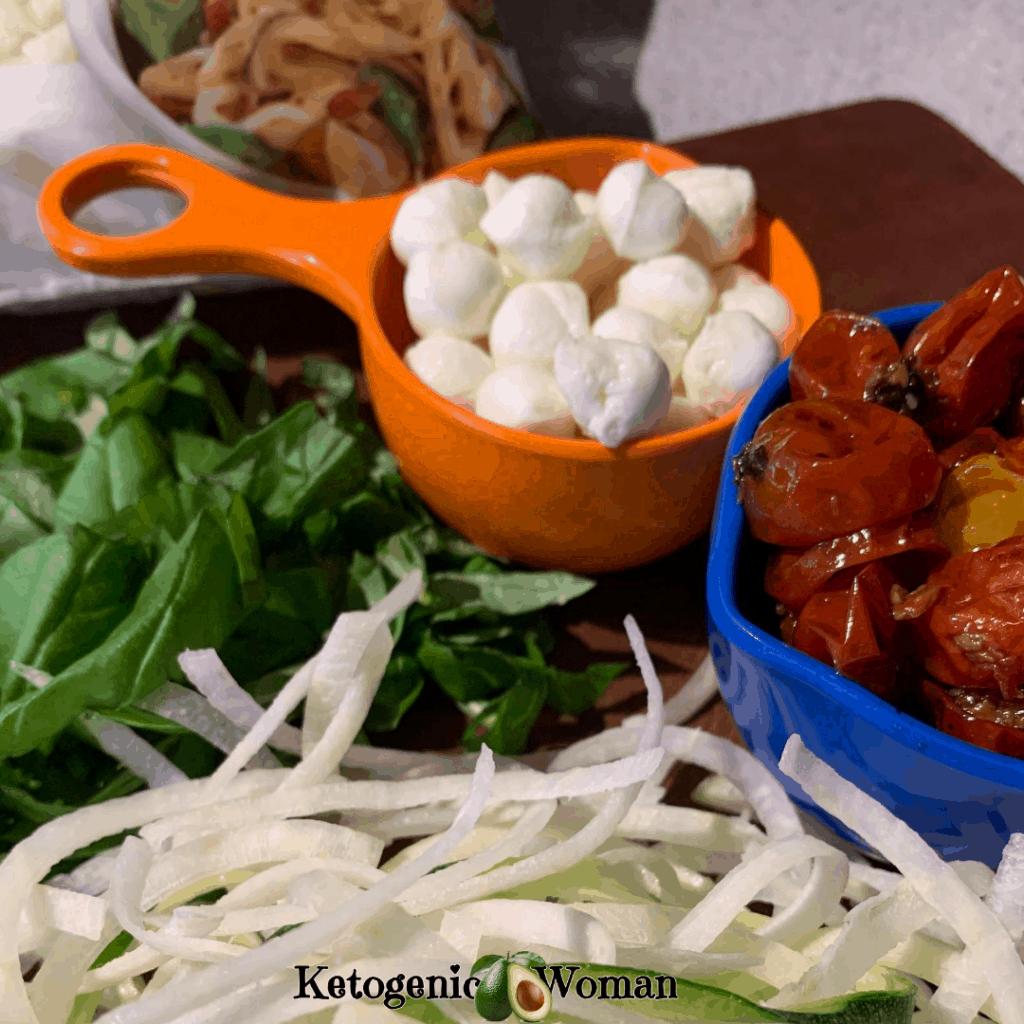 ingredients for caprese pasta