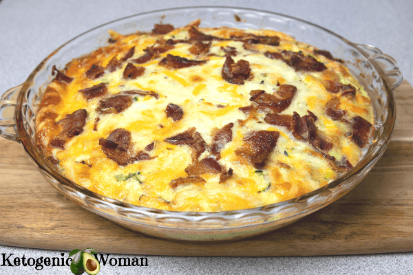 whole zucchini bisquick bake in glass pie plate
