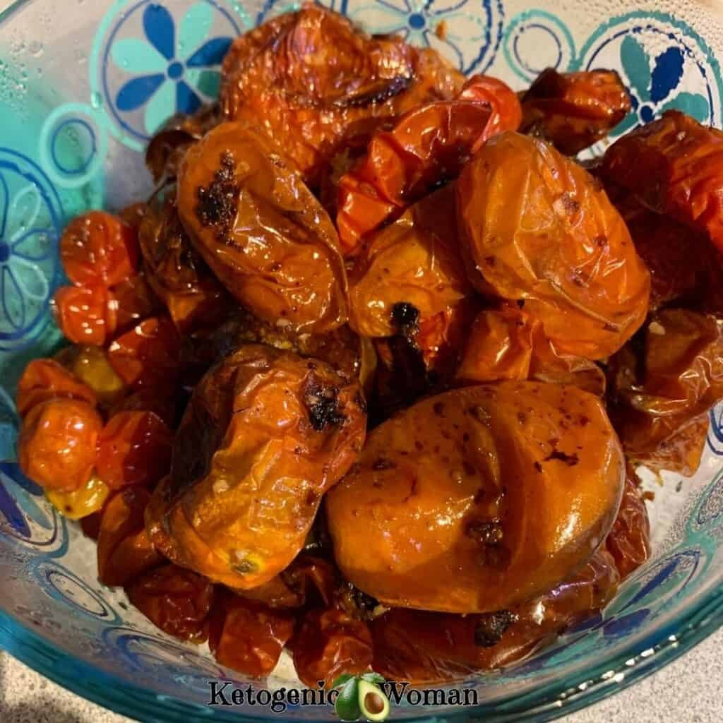 bowl of roasted tomatoes