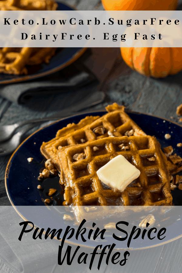 Pumpkin spice waffles Pinterest Pin