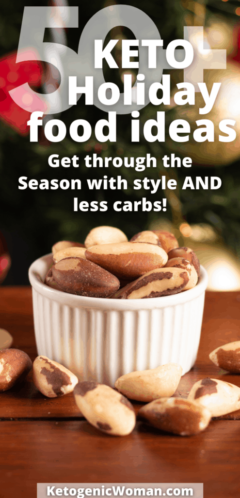 50 Keto Holiday Food Ideas pin