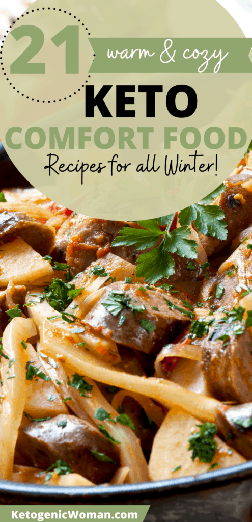 Pinterest Pin layout for comfort foods