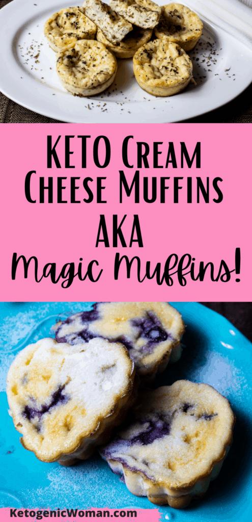Keto Cream Cheese Muffins Pin
