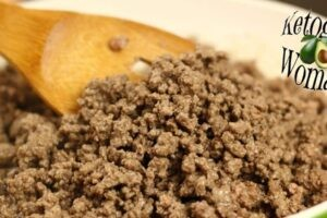 pan of cooked ground beef